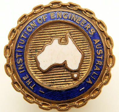 The Institution Of Engineers Australia Enamel Badge - Free Post