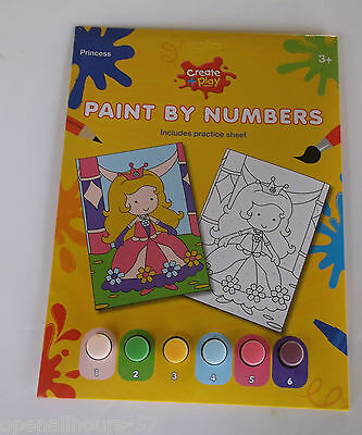 Kids Girls Paint by Numbers PRINCESS