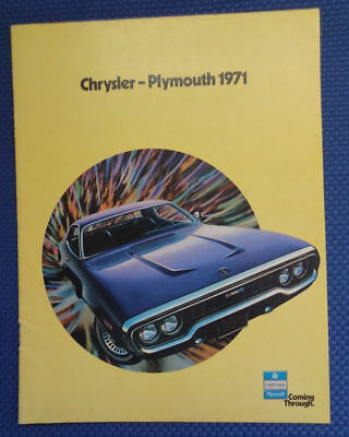 1971 Chrysler Plymouth Sales Brochure - Barracuda Road Runner Duster Satellite