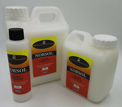 Norsol Leather Top Coat in Gloss, Satin, Matt. For dye, colourant, pigment stain