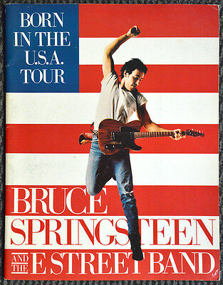 BRUCE SPRINGSTEEN BORN IN THE USA TOUR Programme 1984, Musique Concert