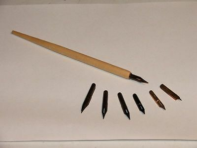 Wooden Dip Pen for Calligraphy Writing including Nib