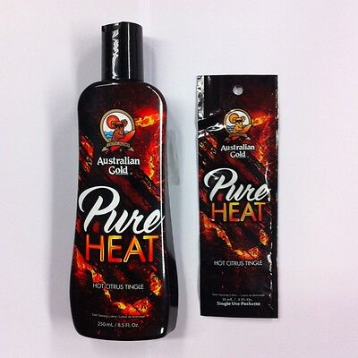 Australian Gold Pure Heat Sunbed Tanning Lotion Cream Bottle or Sachet