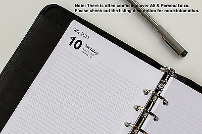 Day Per Page Refills. Fits Filofax Organisers. Personal, Pocket & A5. 2017 2018