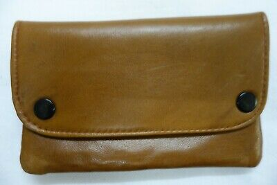 Soft Leather Tobacco Pouch Organizer with Space for Money Blue Colour
