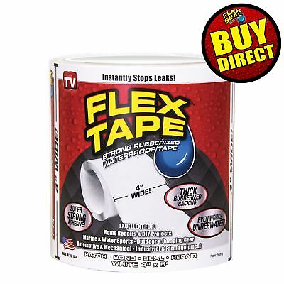 Flex Tape Rubberized Sealant Tape - Super Strong, Waterproof (White) BUY DIRECT!
