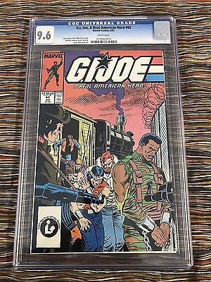 G.i.joe #62 1987 Cgc 9.6 White Pages Zeck Cover Rare Low Population