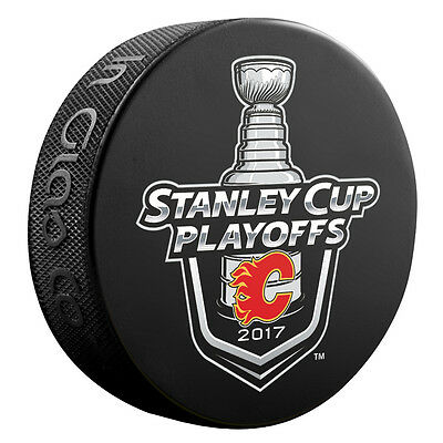 2017 NHL Calgary Flames Stanley Cup Playoffs Commemorative Hockey Puck
