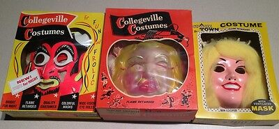 Vintage Ben Cooper Halloween Costume Spook Town Cinderella Devil Lot 3 Boxes