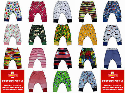 Kids Girls Toddler Boys Trousers Leggings Pants Harem2-3-4-5Years Cotton