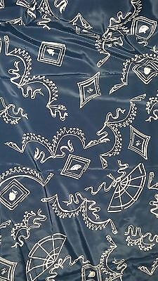 """vintage novelty print fabric 40s 50s fan, bow and cameo print 43""""x115"""""""