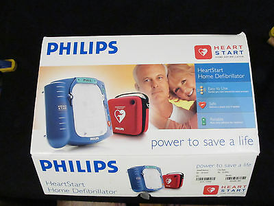 UNUSED Philips HeartStart ADULT Home Defibrillator M5068A, New Pads, New Battery