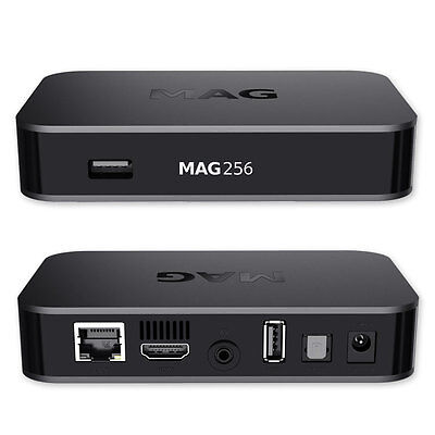MAG 256 Original IPTV Box SET TOP IPTV Streamer Multimedia Internet TV USB NEU