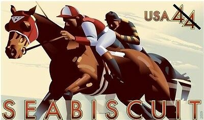 SIX(6) Mint SEABISCUIT Stamped Envelopes Racehorse Horse Horses Race Racing U668