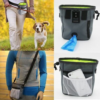 Pet Dog Puppy Obedience Training Treat Bag Feed Bait Snack Food Pouch Belt Bags
