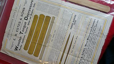 E. B. Estes & Sons Wooden Druggist Turned Wooden Box Manufacturing Price List