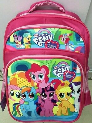 New Girls My Little Pony School Bag Fashion Zip Design Cartoon Rainbow Dash