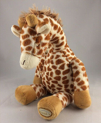 "Cloud B GENTLE GIRAFFE Baby Sleep Soother 13"" Plush Water Nature Sounds Crib Toy"