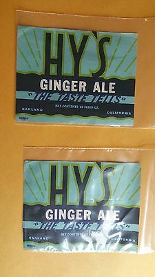 #2 Oakland California HY's Ginger Ale Labels