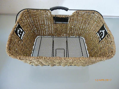 1x new basil insert basket ,with carrying handle , braided seagrass ,back wheel