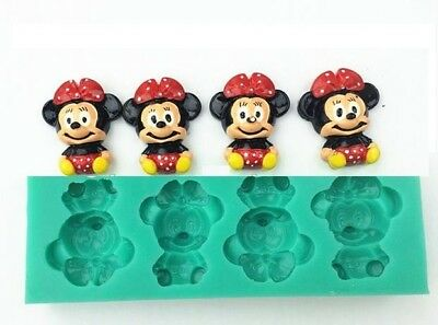 Stampo In Silicone Minnie 4 Cavita'