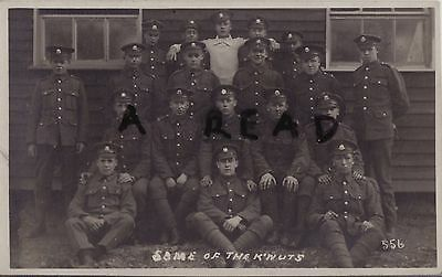 WW1 soldier group Cheshire Regiment outside barrack hut