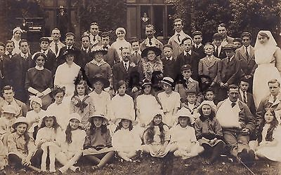 WW1 wounded soldiers with Nurses and large group of Visiting children Liscard ?