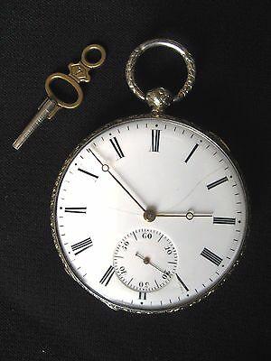 Montre gousset extra plate argent Circa 1860 silver pocket watch