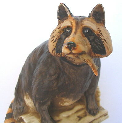 1974 Large Size Raccoon with Fish Ski Country Decanter with Original Box Foss Co