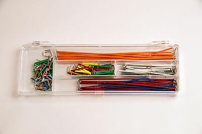 Breadboard or PCB Jumper Wire Kit Box 140 pcs ideal for Arduino UK Free Postage