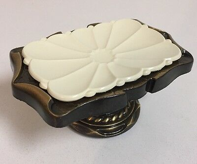 Vintage Brass Amerock Carriage House Soap Holder Dish