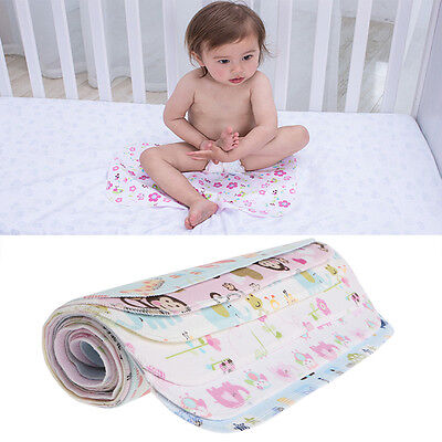 Baby Infant Urine Diaper Nappy Mat Kid Waterproof Bedding Changing Cover Pad New