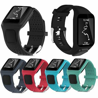 Silicone Wrist Band Strap Holder For TomTom Runner Cardio & TomTom Spark/Spark 3