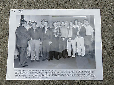 Original 1957 NACA Ames Aeronautical Lab Moffett Field Ca Award Photo   8 x 10