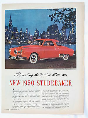 1950 Studebaker Commander Starlight Coupe Full One Page Print Advertisement