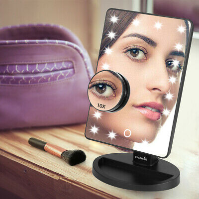 Easehold Tri Fold Led Lighted Vanity Makeup Mirror Touch Screen