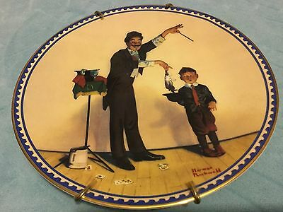 The Magician Norman Rockwell Knowles Plate Innocence and Experience LMTD EDITION