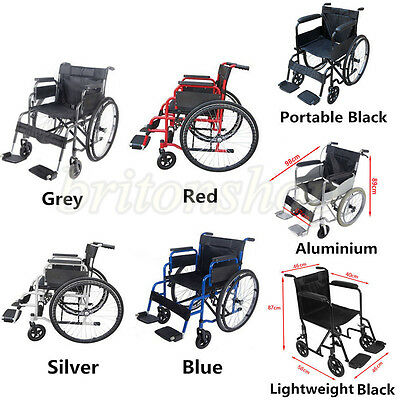 Panana AID Wheelchair Footrest Self Propelled Folding Lightweight Transit Travel