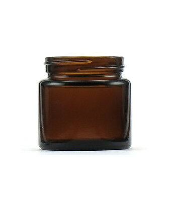 Amber Glass 65ml Jar with White Lid