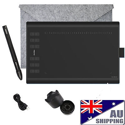 Huion 1060PLUS Graphic Drawing Pen Tablet Upgrade with 12 Hot Keys & 8BG MicroSD