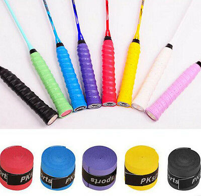 2 x Anti Slip Racket Tennis Badminton Sweat Absorption Handle Grip Tape Overgrip