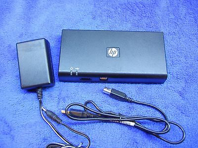 HP Docking Station w/ DVI Display Link Port Replicator 589100-001 HSTNN-S02X