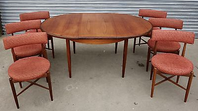 G Plan Teak Extending Dining Table & 6 Chairs, nationwide delivery available