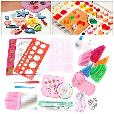 19 in 1 Papier Quilling Handwerk Papercraft Werkzeug DIY Kit Kreation Paper Set