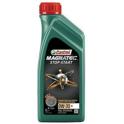Castrol Magnatec Stop-Start 0w-30 D Fully Synthetic Car Engine Oil - 1 Litre