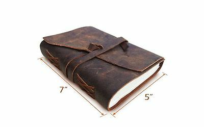 Vintage Leather Bound Retro Handmade Journal Diary Organiser Travel Notepad Book