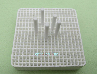 55*55mm Ceramic Block Soldering Plate With Holes Jewelry Heat Board And Stop Pin