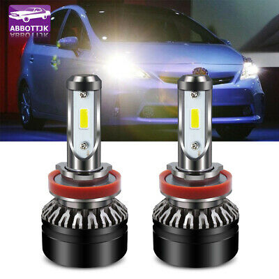 2PCS H8 H9 H11 3000K 6500K 8000K LED Headlight bulbs Acura Chevrolet GMC Honda