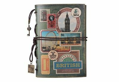 Vintage Refillable Leather Journal Diary, Notepad, Planner, Travel Organiser New