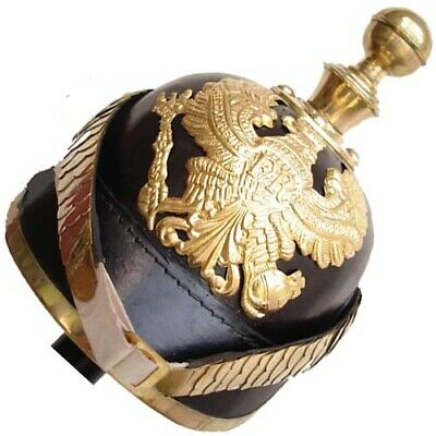 German Pickelhaube Prussian Helmet Imperial Officer's Garde Leather Helmet